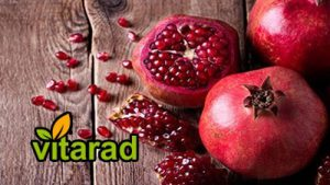 Organic pomegranate fruit